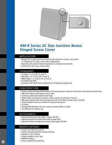 Hinged Screw Cover - Solutions Direct