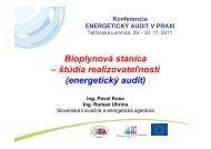 štúdia realizovateľnosti - Slovenská inovačná a energetická agentúra