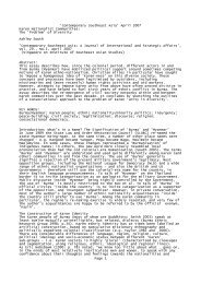 'Contemporary Southeast Asia' April 2007 - Notepad - Ashley South