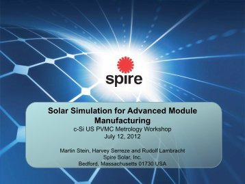 Solar Simulation for Advanced Module Manufacturing - PVMC