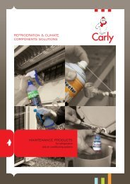 refrigeration & climate components solutions maintenance ... - Carly
