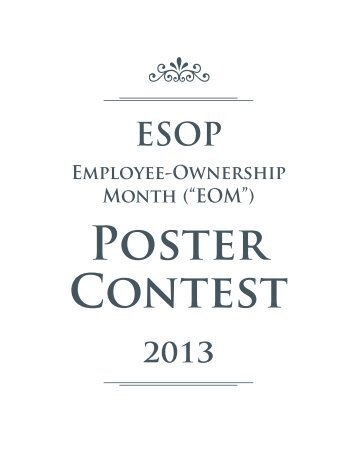 Poster Contest - The ESOP Association