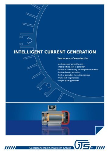 intelligent current generation - gts generator. technik. systeme.