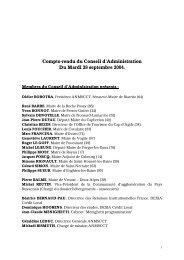 Compte-rendu du Conseil d'Administration Du Mardi 28 septembre ...