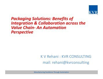 Packaging Solutions: Benefits of Integration ... - PackPlus
