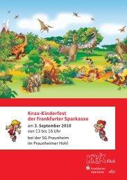 Einladung zum Knax-Kinderfest der Frankfurter Sparkasse - GeldKarte