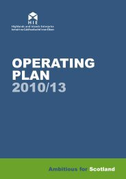 HIE Operating Plan 2010 to 2013 - Highlands and Islands Enterprise
