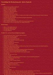Vorschläge für Hochzeitsmusik - Sylvia Tazberik