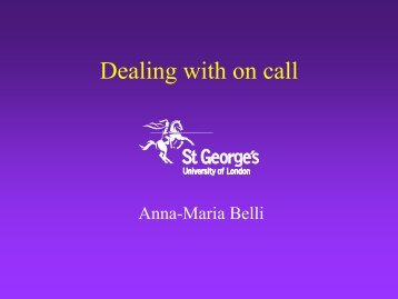 Dealing with on call - MIR-Online