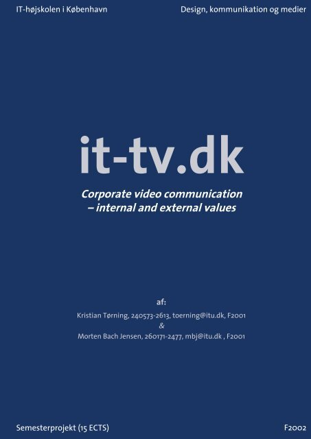Corporate video communication – internal and external values