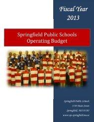 Fiscal Year 2013 - Springfield Public Schools