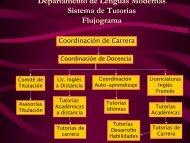 Descripción del Sistema de Tutorías