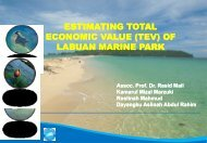 estimating total economic value (tev) - Jabatan Taman Laut Malaysia