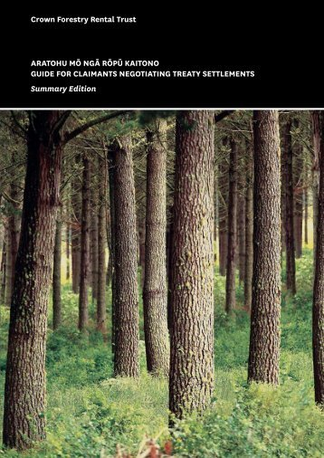 Summary Guide for Claimants - Crown Forestry Rental Trust