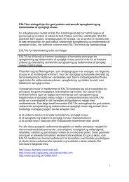 EALTA guidelines in Danish