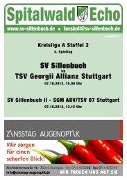 Spitalwald Echo Nr. 2 - Fußball beim SV Sillenbuch