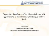 Numerical Simulation of the Coastal Ocean with Applications to ...