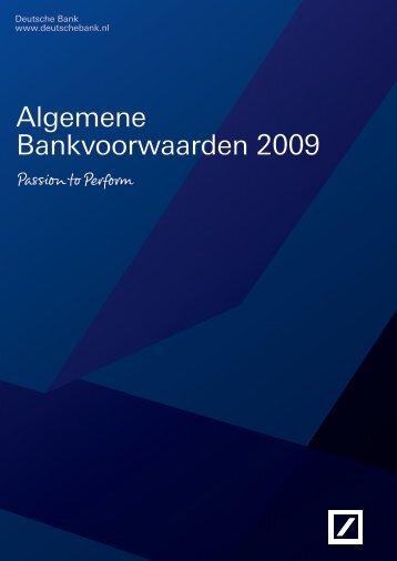 Algemene Bankvoorwaarden 2009 - Deutsche Bank