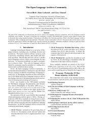 2-page handout - Open Language Archives Community