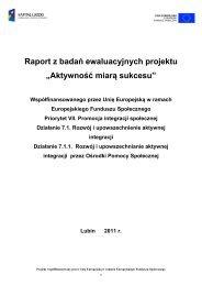 """Raport z badań ewaluacyjnych projektu """"Aktywność miarą sukcesu"""""""
