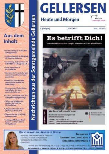 Mitteilungsblatt 06/2011 - Samtgemeinde Gellersen