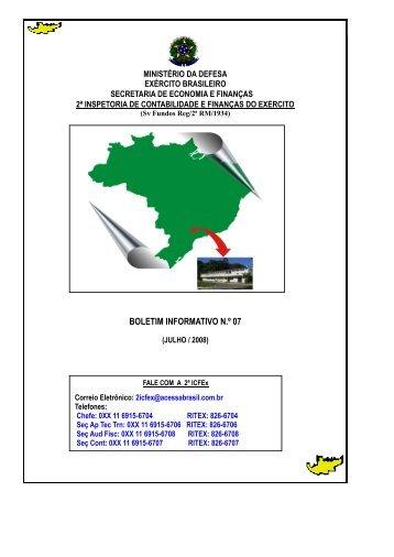 Julho - 2ª ICFEx - Exército Brasileiro