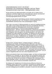 Kompetenzorientiertes Lernen - Gesamtschule Gleiberger Land