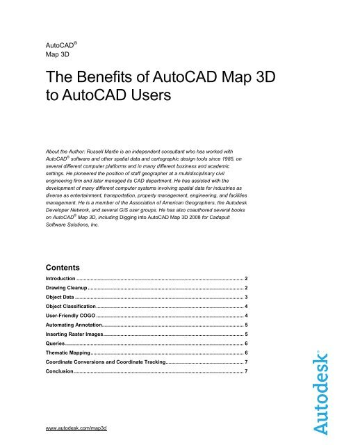 The Benefits of AutoCAD Map 3D to AutoCAD Users