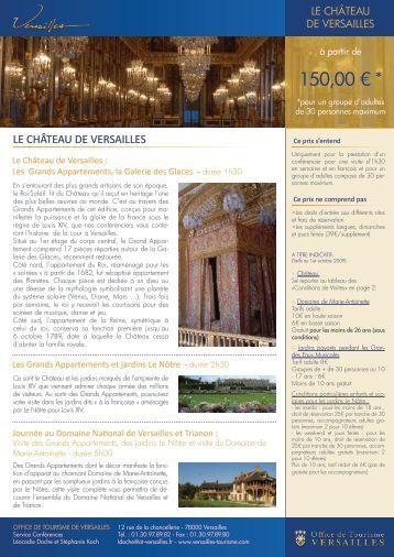 Plan d 39 orientation ch teau de versailles for Office de tourisme de versailles