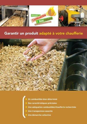 Plaquette de communication sur les plaquettes bois - FIBOIS Alsace