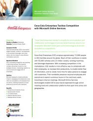 Coca-Cola Enterprises Tackles Competition with ... - Binary Tree