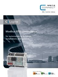 Modbus RTU components - METZ CONNECT