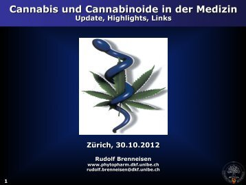 Cannabis und Cannabinoide in der Medizin - Update, Highlights ...