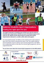 National Disability Sport Organisations - English Federation of ...