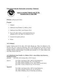 Zápis z jednání VR FF OU ze dne 12. 10. 2004 - Filozofická fakulta