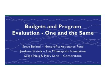 Presentation - Minnesota Council of Nonprofits