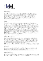 1. Allgemeines Unsere allgemeinen ... - mucklefiguren
