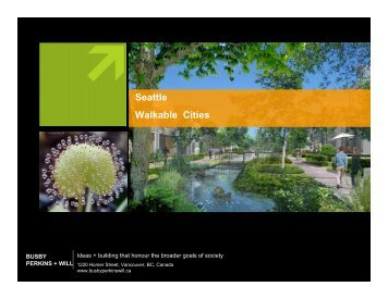 Seattle Walkable Cities - Green Futures Lab