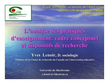École doctorale - Centre de recherche sur l'intervention éducative ...