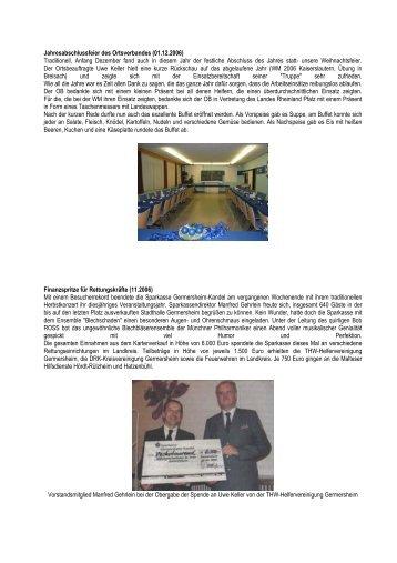 Berichte 2006 - THW Germersheim
