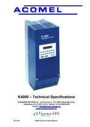 K4000 – Technical Specifications - BIBUS SK, sro