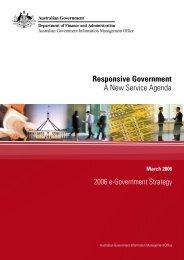 Responsive Government - A New Service Agenda - Australian ...