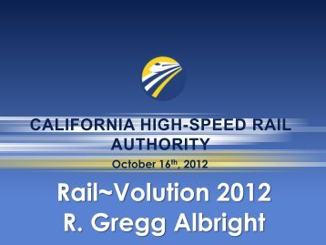 View event presentation - Rail~Volution
