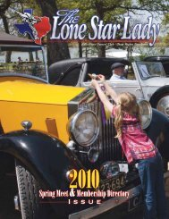 Rolls-Royce Owners' Club • Texas Region Newsletter - Rroctexas.com