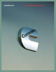 Cummins Inc. 2007 Sustainability Report - SocialFunds.com