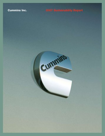 Cummins Inc. 2007 Sustainability Report - SocialFunds.com