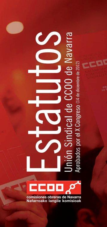 ESTATUTOS 2012.indd - Comisiones Obreras de Navarra - CCOO