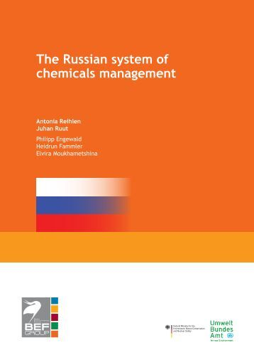 The Russian system of chemicals management - Bef-de.org