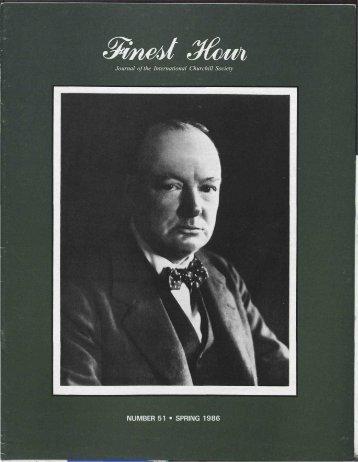 Journal of the International Churchill Society - Winston Churchill