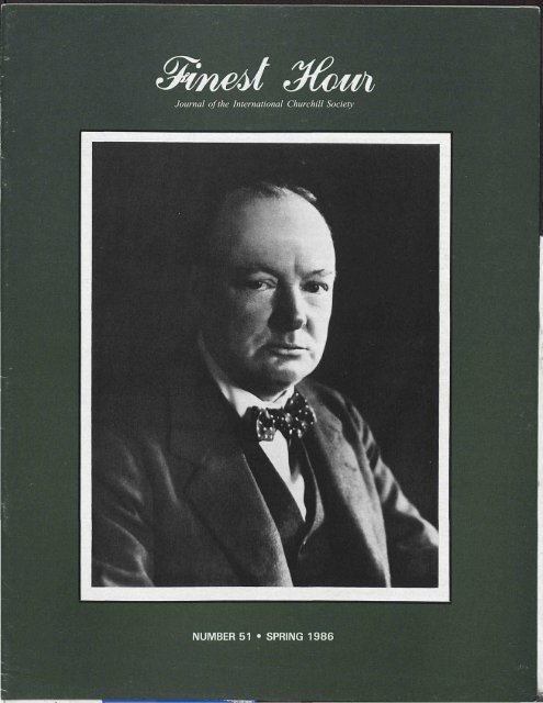 Journal Of The International Churchill Society Winston Churchill
